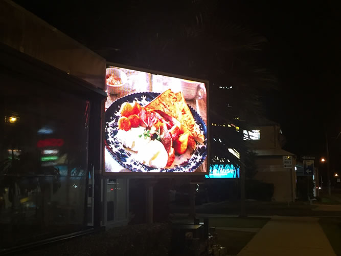 Mobile LED Signs stand out at night!