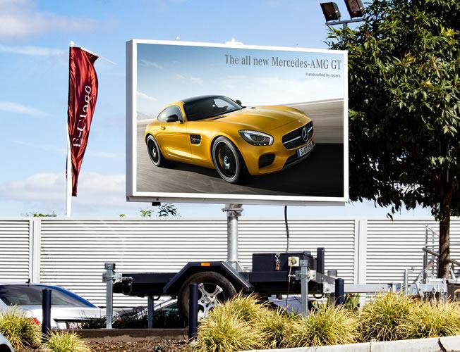 Mobile LED Sign  Mercedes Benz